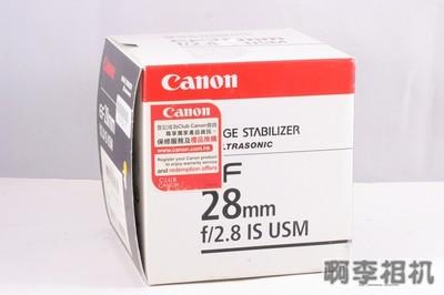 【阿李二手相机】佳能  EF 28 / 2.8 IS USM 极新净 带原厂遮光罩 ( 全套包装 )