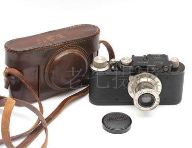 Leica/徕卡 II 型 Model D +50/3.5 黑漆套机 带皮套 C00925
