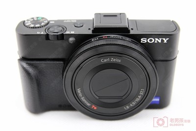 索尼 DSC-RX100M2索尼经典黑卡二代配原装皮手柄成色99新