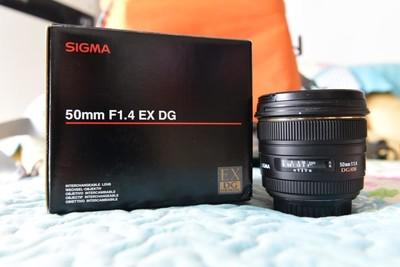 95新 佳能 适马 Sigma 50mm F1.4  EX