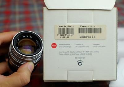 基本全新leica徕卡M50 2 summicron,银色铜