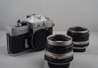 海鸥DF原型机 带58mm/f2, 35mm/f2.8两支老