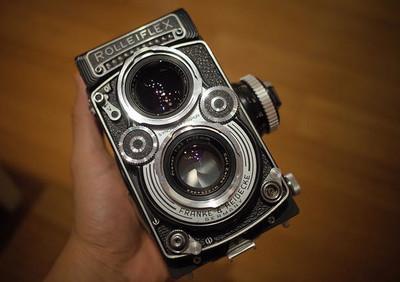 Rolleiflex 3.5F最早期 5片planar,光圈