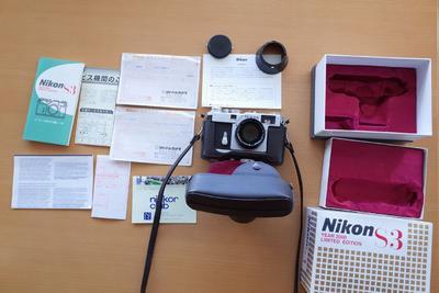 错过后悔收藏级基本全新尼康旁轴Nikon s3套机,附件齐全