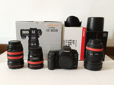 灭门出佳能5D2相机24L 135L 12-24超广