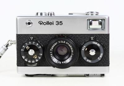 禄来 ROLLEI 35 银色 135胶卷旁轴相机 蔡司 T