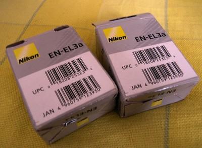 出尼康原厂EN-EL3a,可使用在尼康D100、D70、D7