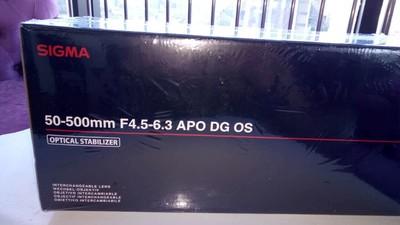 全新未拆 适马50-500  F4.5-6.3 APO DG
