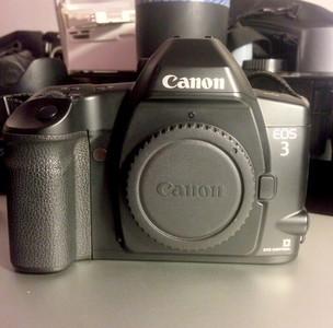 佳能Canon EOS3 专业135胶片单反相机+原厂BP-E1手柄