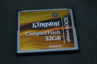 金士顿 32G CF卡 600X U3 极速闪存卡 单反相机