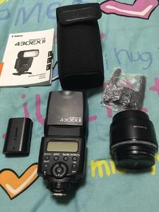 佳能闪光灯430II+50mm/F1.8+自用原装LP-E6