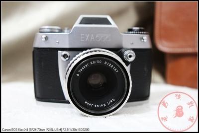 █★老男孩影像★█爱克山泰 EXA500相机 带carel zeiss 50 2.8镜头