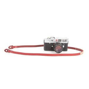 cam-in 纯手工缝制 真皮单反数码照相机背带 微单摄影肩带 CS215 (CAM2894酒红色)