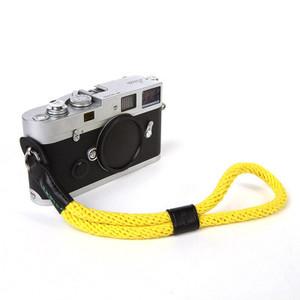 cam-in 真皮棉织相机手腕带 圆孔型 莱卡 富士 索尼 微单 WS022(cam3087黄色)