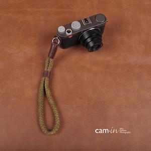 cam-in 真皮棉织相机手腕带 圆孔型 莱卡 富士 索尼 微单 WS022(2061)