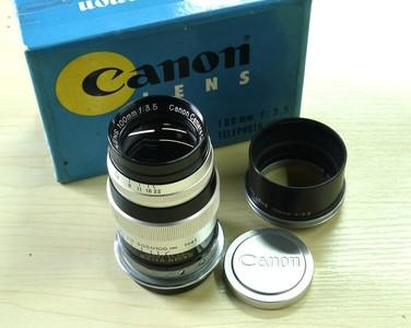 Canon/佳能 L39口 100/3.5 镜头 原厂遮光罩、前后盖带盒