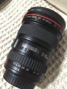 佳能EF 17-40mm f/4L USM 镜头 17-40 红圈广角