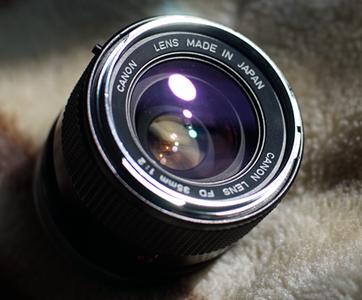 佳能canonFD 35/2 白嘴版大光圈牛头凹面前镜片镜头