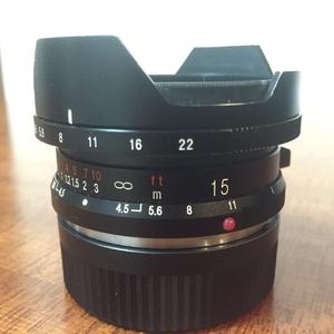 福伦达 15mm F4.5 带包装 带 M转E 转接环 9成新
