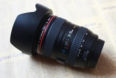 出基本全新的佳能EF24-105 F4L 有保卡镜头袋等