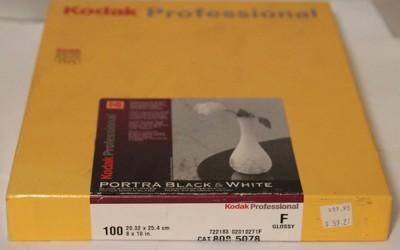 柯达专业市场 PORTRA 黑白相纸 RA-4 8*10 100张