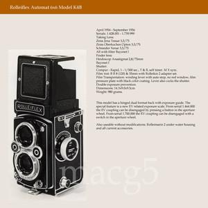 禄来双反 Rolleiflex MX K4B 德产120胶片相机 蔡司镜头