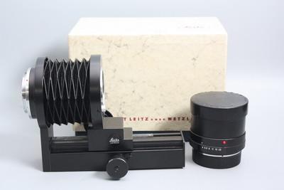 98新有包装徕卡微距MacroR 100/4镜头+98新原装皮腔