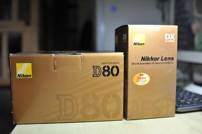 收藏成色自用尼康D80+18 70套机经典CCD,另有50 1.8d,70-300VR