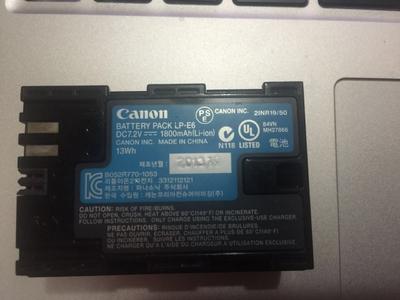 佳能 LP-E6  拆机电池