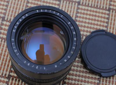 徕卡 Summicron-R 90 mm f/ 2 大头九 前镜片坏的,当配件卖了