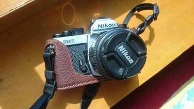 95新尼康胶片相机FM2 钛帘始祖版 手工定制皮套 352D镜头 文艺必备