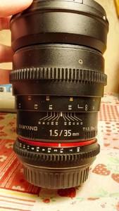三阳 samyang 35mm T1.5 广角镜 视频电影镜 佳能口