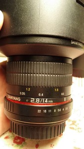 三阳 Samyang 14mm f/2.8  佳能口