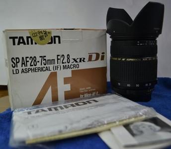 腾龙 SP AF 28-75mm F2.8 XR Di LD Asp [IF] Macro尼康口
