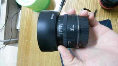 出佳能老款 35mm 定焦 f2 镜头