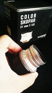 福伦达 Color-Skopar 21mm f/4 包装箱说齐全  附送原厂L-M徕卡口接环