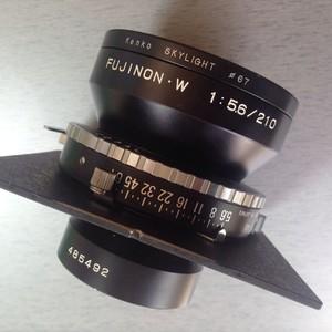 富士大画幅座机镜头 fujinon-w 210/5.6 包邮