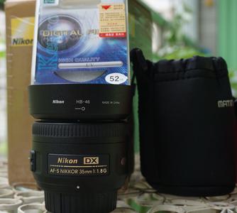 自用尼康定焦35mm镜头转让-成色99新  850元
