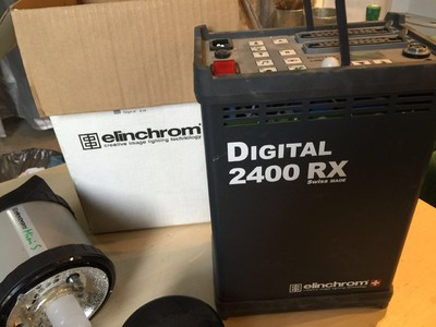 个人出售爱玲珑2400RX电源箱、爱玲珑Master RX 600w 闪光灯