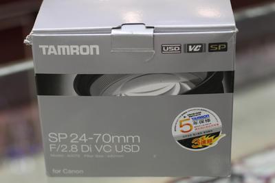 98新 国行腾龙24-70 F2.8 VC 定焦 变焦镜头 佳能口 带发票 保修卡 箱说齐全