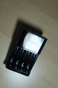 三洋爱乐普极速快充+最高能电池HR-3UWXB 2450mAh 5号电池4枚 完美版