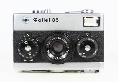 禄来 ROLLEI 35 银色 135胶卷旁轴相机 蔡司 Tessar 德产