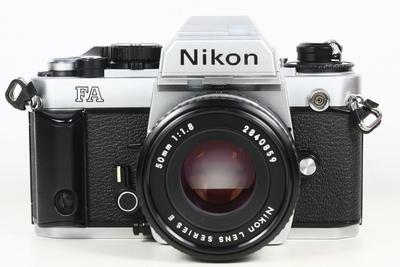 尼康 NIKON FA 日产135胶片单反相机 钛帘 + nikkor 50/1.8镜头