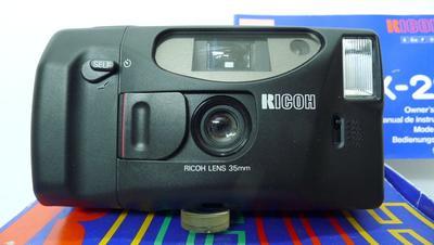 崭新理光LX-22焦距35MMF4.5定焦胶片傻瓜相机(说明拎带皮套全)