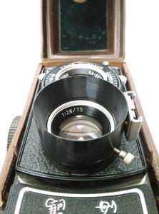 120双反相机用(车工车制金属遮光罩)带闪光灯插座高度18MM