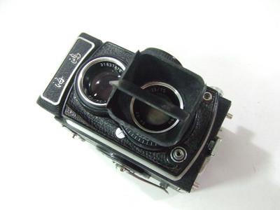 120双反相机用方形遮光罩(带对折2次暴光)挡片可以拆卸