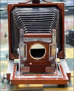 老木质皮腔折叠相机,外拍机古董相机 收藏级
