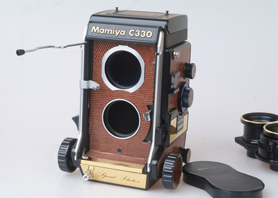 玛米亚 Mamiya C330s Special Selection镀金 双反胶片机 真皮包