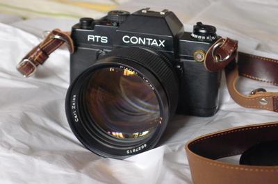 康泰时 Contax 85mm F1.2 85/1.2 AEG +RTS II极新 50周年纪念版