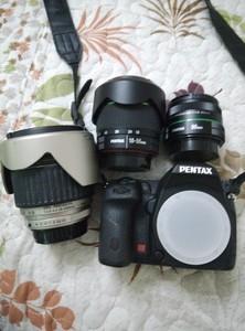 宾得k52s单反相机 da18-55套机 da50 1.8定焦镜头 fa28-200